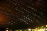 23 Juillet 2012 : Filé d'étoiles sur le Golfe de Sagone (nuageux)