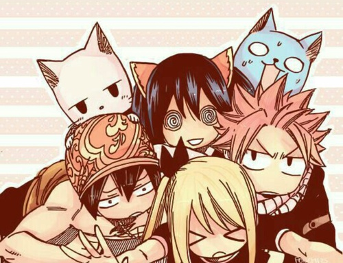 Image de anime, fairy tail, and happy