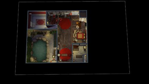 Création Sims 4 | Les chambres d'Arianne (Love Hôtel)