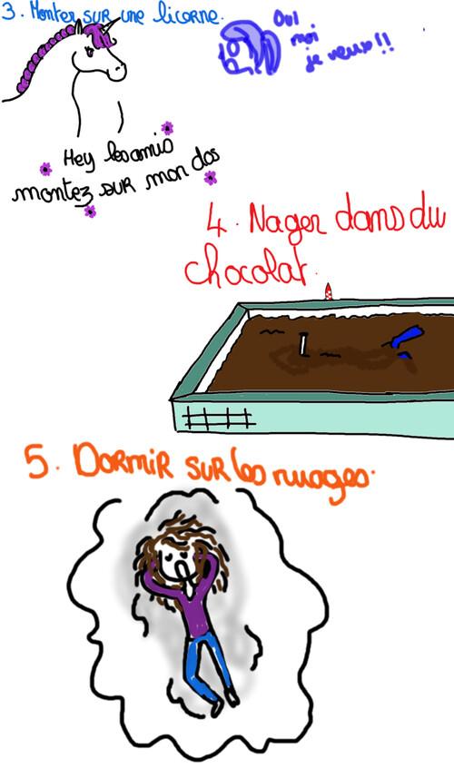 """Liste """" dernier souhait avant la fin du monde """" + mini concours"""