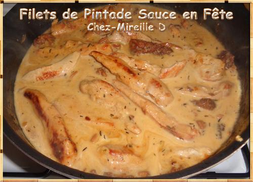 Filets de Pintade Sauce en fête