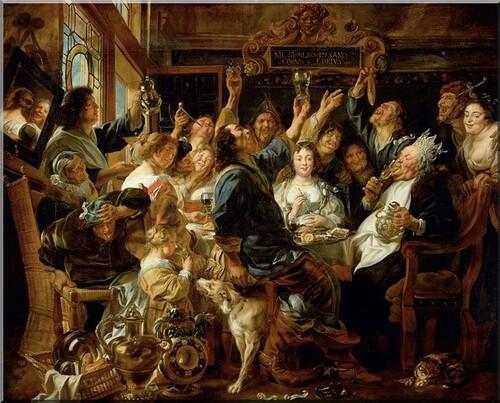 La Fête des Rois par Jakob Jordaens Kunsthistorisches Museum à Vienne