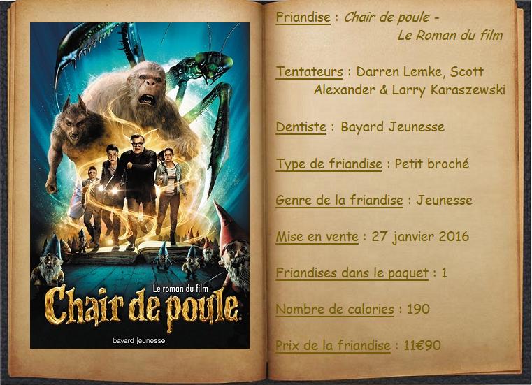 Chair De Poule Le Roman Du Film Darren Lemke Scott