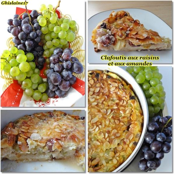 Clafoutis aux raisins et aux amandes