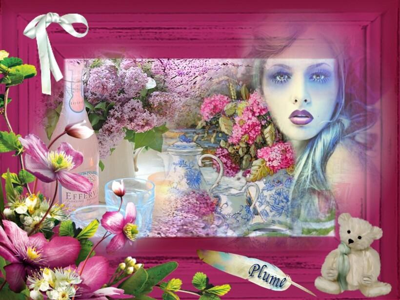 Breuvages sous les lilas du printemps