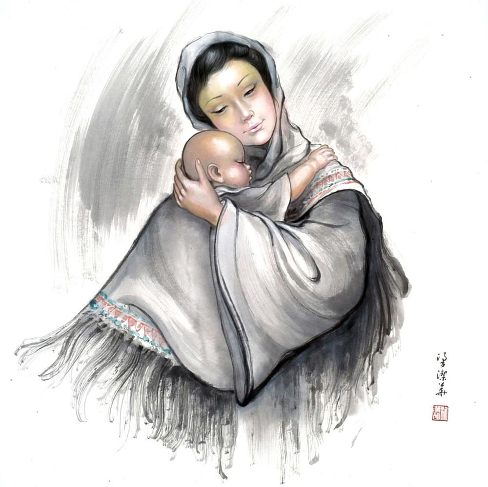 中国画家梁洁华的美丽图画