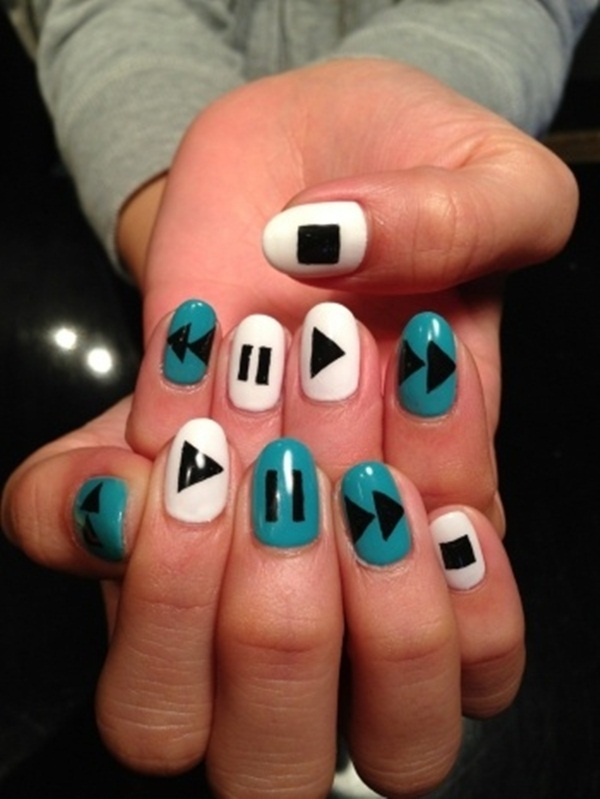 Simple Nail Art Designs for Short Nails (48)