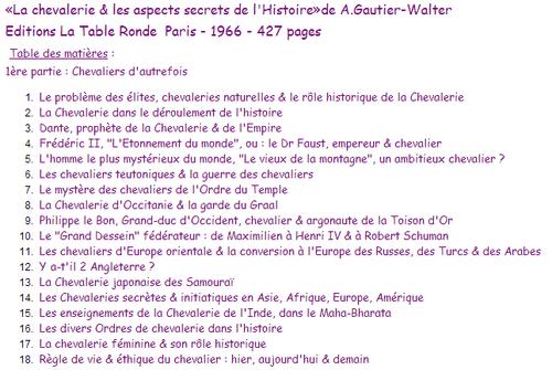Chevalerie de Gautier Walter