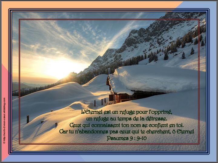L'Eternel est une refuge - Psaumes 9 : 9-10