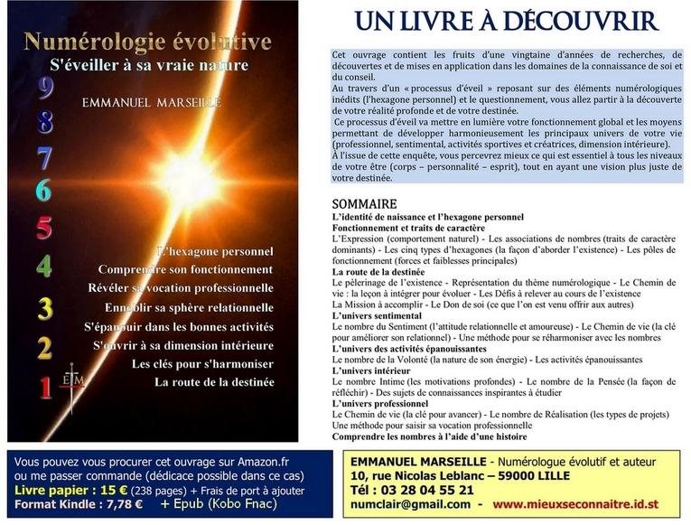 Livre : Numérologie Evolutive