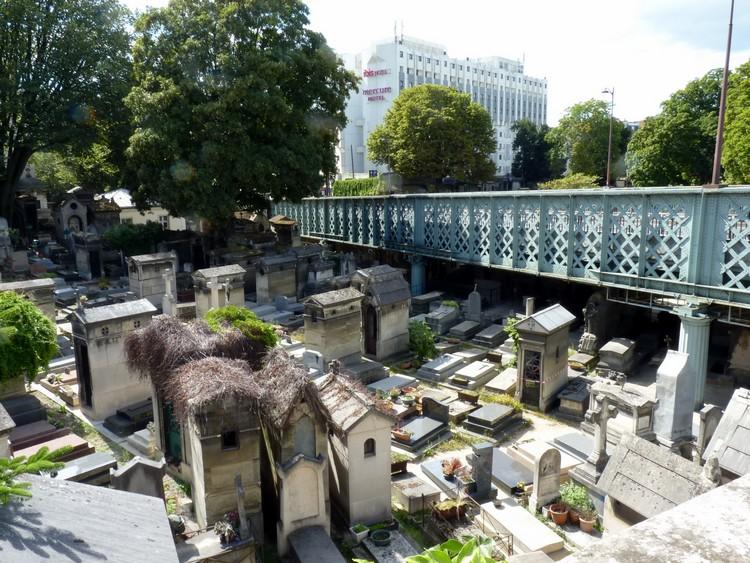 Vioduc de Caulaincourt et cimetière
