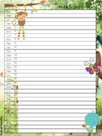 Mon calendrier de maîtresse