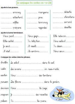 Les verbes en -er (suite)