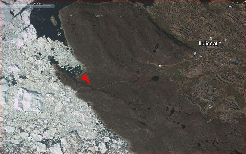 Panoramas sur les paysages admirés depuis le chemin menant vers l'Isfjord - Ilulissat - Groenland