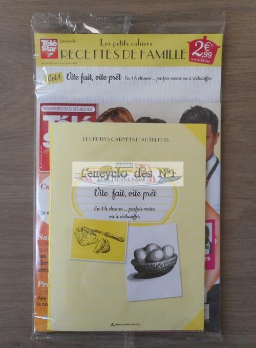 N° 1 Petits cahiers recettes de famille - Lancement