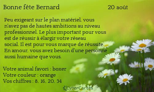Bonne fête Bernard - casper-carlus