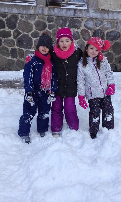 Les joies de la neige....