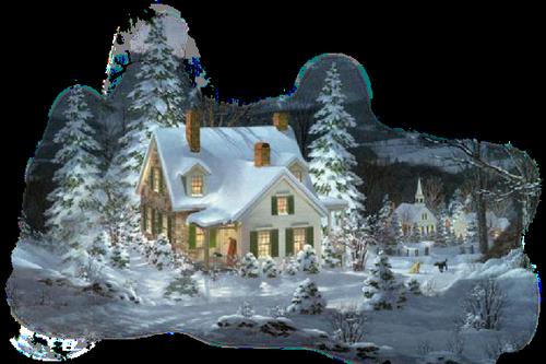 """Résultat de recherche d'images pour """"gif belle maison sous la neige"""""""