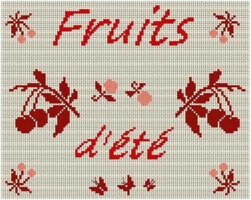 GRILLE POINT DE CROIX - FRUIT D'éTé