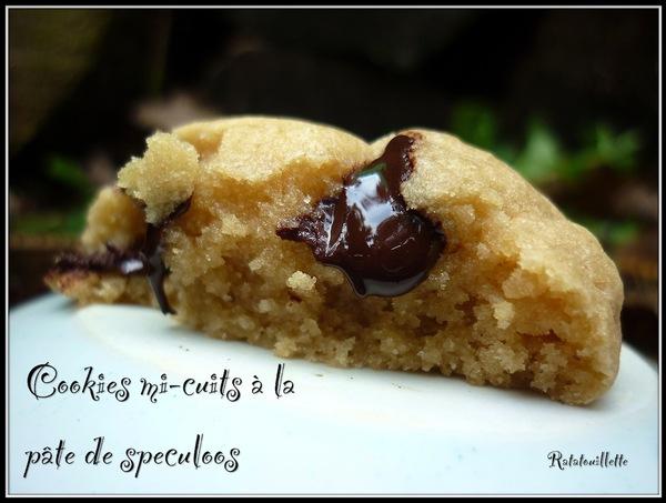 Cookies mi-cuits à la pâte de speculoos