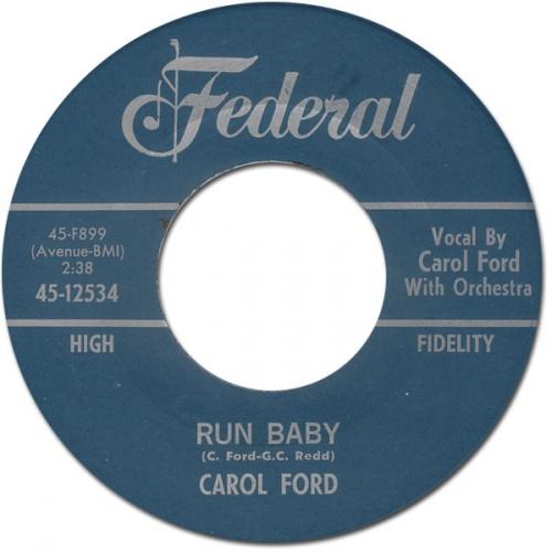 CAROL FORD - run baby
