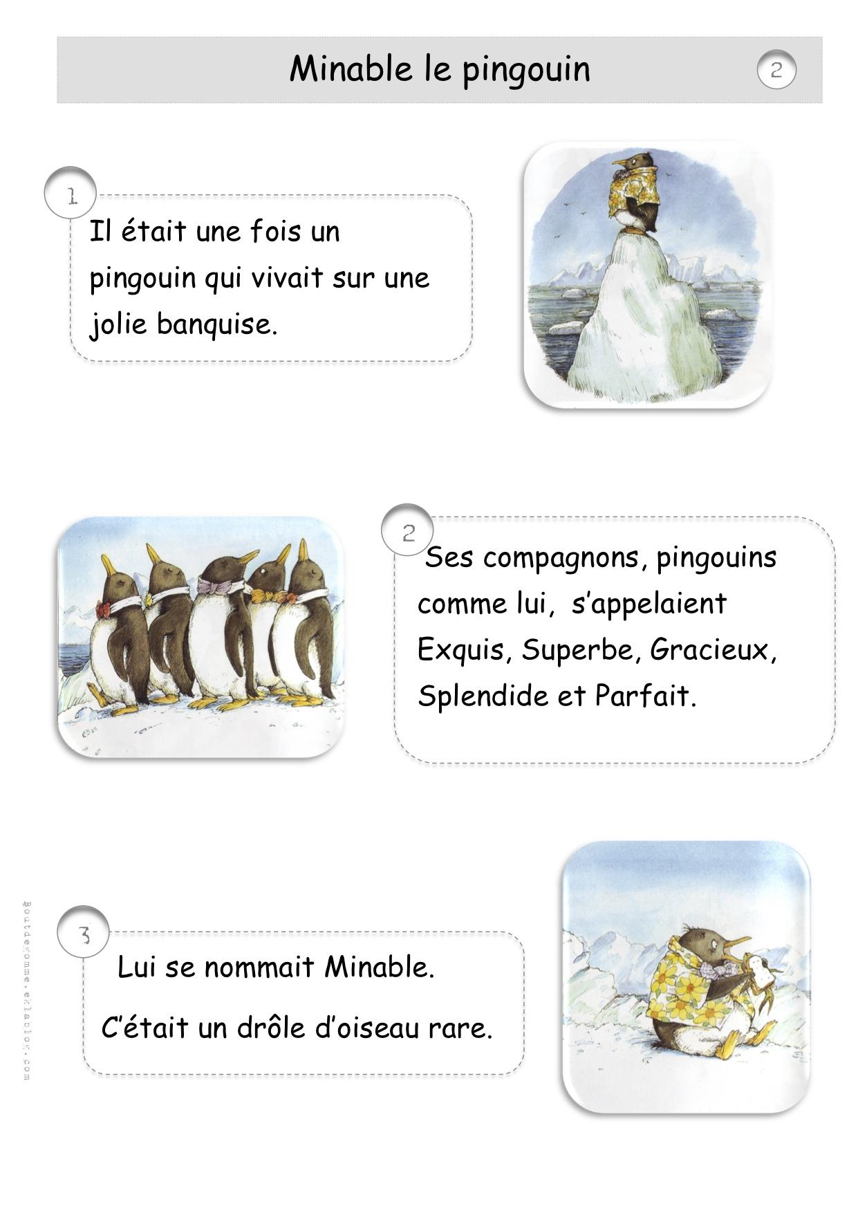 Minable le pingouin cp bout de gomme - Coloriage minable le pingouin ...