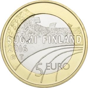 UNE PIECE DE 5 EUROS LE HOCKEY SUR GLACE