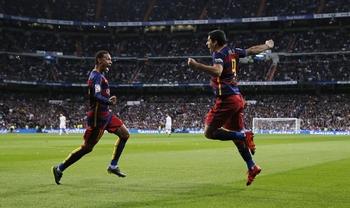Neymar et Suarez régalent au Bernabeu