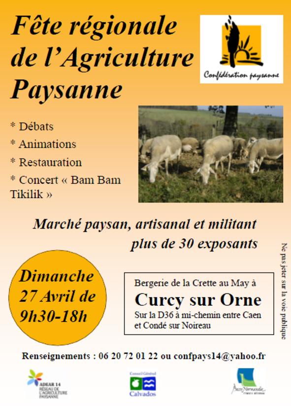27 avril : Fête régionale de l'Agriculture Paysanne
