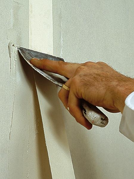 bien réaliser une bande sur plaque de placoplâtre - bien bricoler