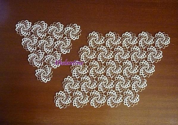 napperons 25 spirales losange et triangle