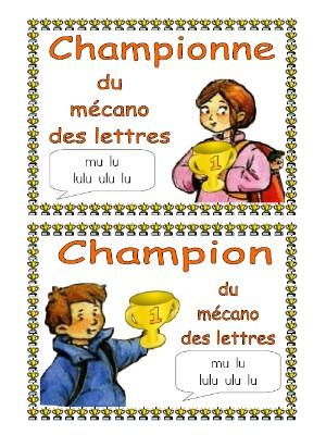 Champions du mécano des lettres et de la boîte à outils