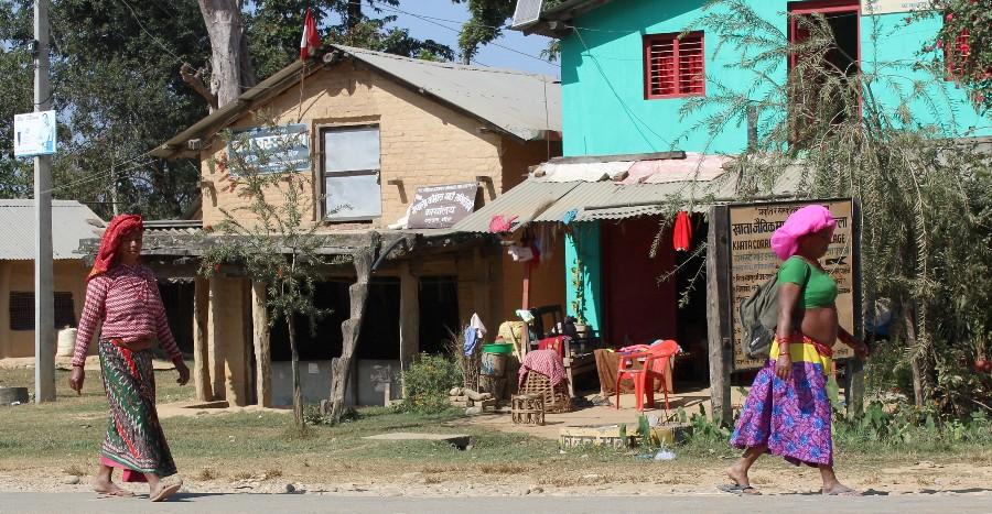 Village tharu - Népal