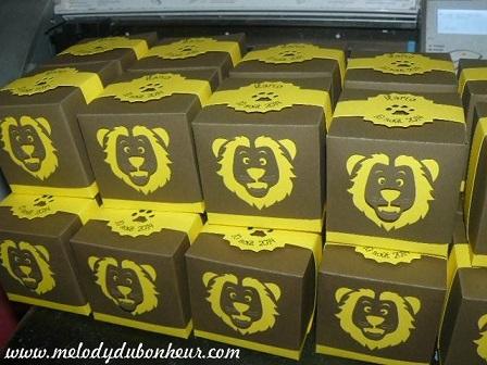 Boites à dragées thème lion