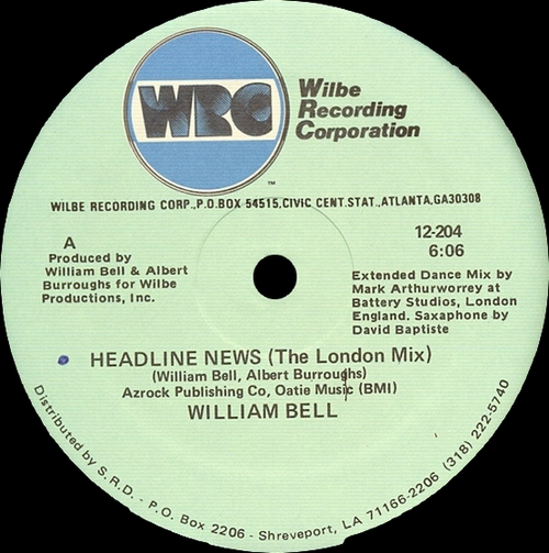 "William Bell : Album "" Passion "" Wilbe Recording Corporation  WIL-3001 [ US ]"