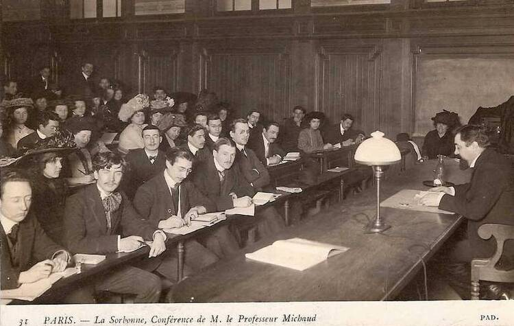 Paris. La Sorbonne. Cours de Monsieur le Professeur Michaud