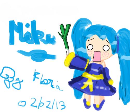 Pixel art de Miku Hatsune