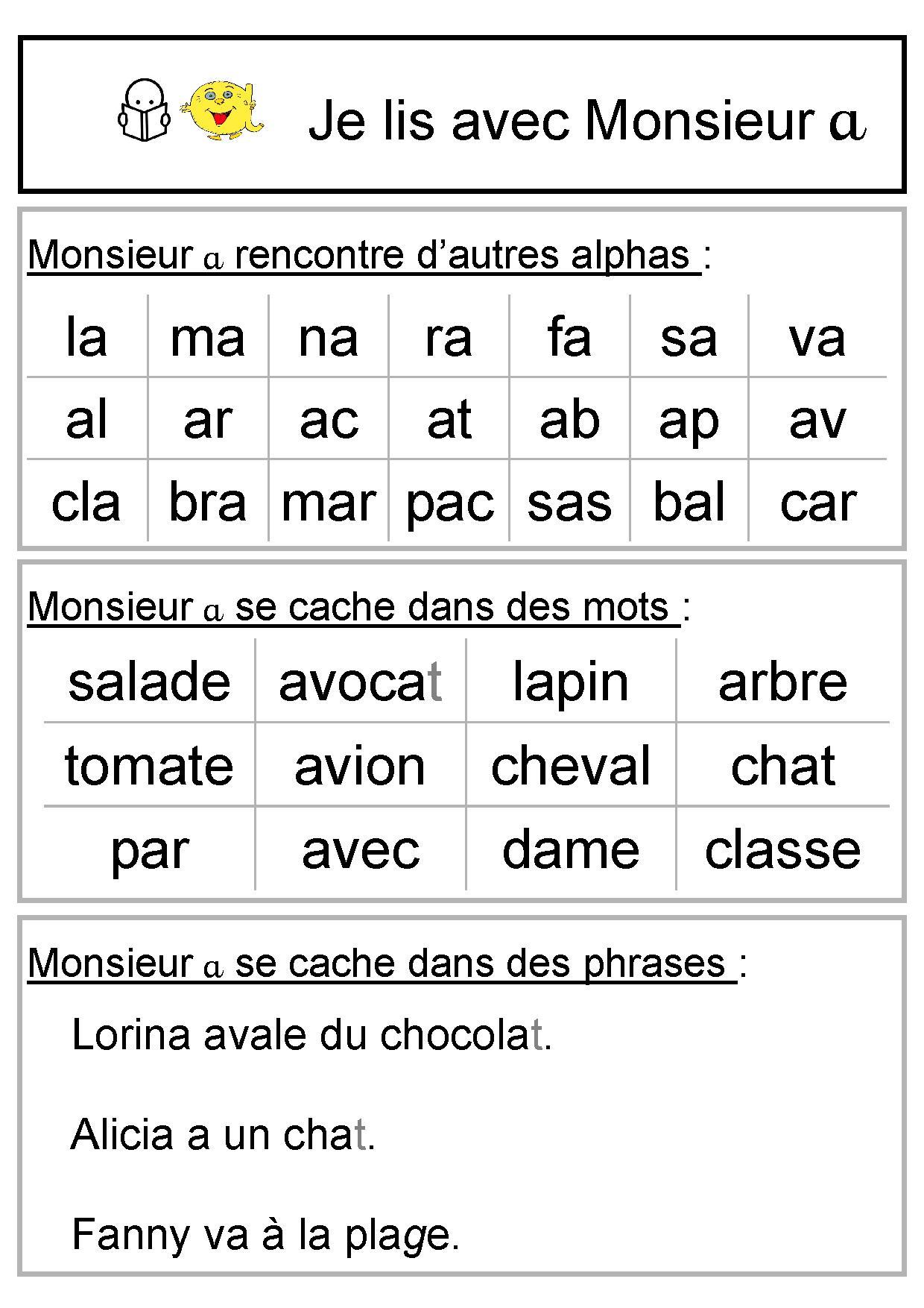 Populaire Le lutin de sons : le son [a] - Dame Dubois TS57