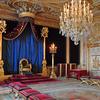 Chateau de Fontainebleau, France Salle du trône
