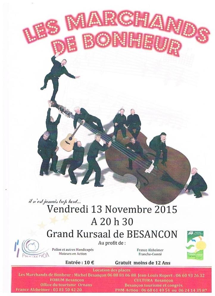 Les marchands de bonheur à Besançon le 13 prochain...