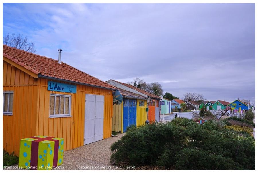 Cabanes colorées de l'île d'Oléron