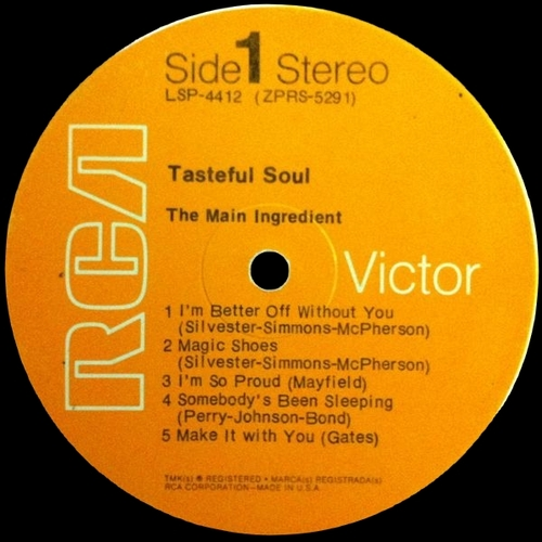 "The Main Ingredient : Album "" Tasteful Soul "" RCA Victor Records LSP-4412 [ US ]"