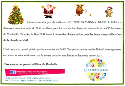 Merci à l'association des parents d'élèves!