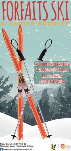 Forfaits de ski à tarif réduit au PIJ