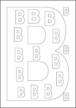 coloriages des lettres de l'alphabet