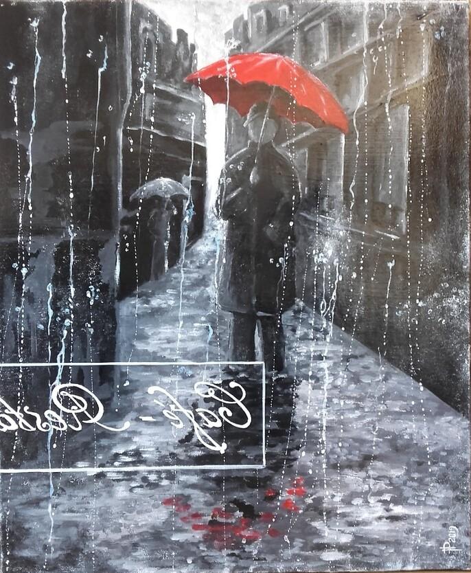 COULEURS * « Le Parapluie Rouge »