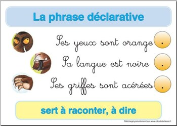 types de phrase : phrase déclarative