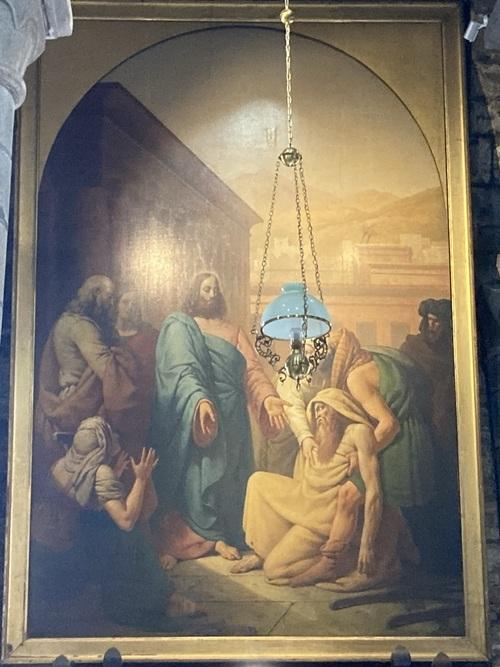Christ guérissant les malades (Église de Mauriac, Auvergne)