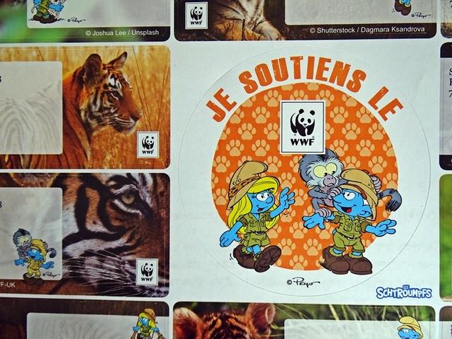 étiauettes WWF