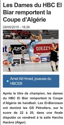 2014-2015 GSP ex MCA Feminine Finaliste de la Coupe d'Algérie